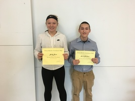 8th Grade December Students of the Month