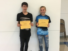 8th Grade September Students of the Month