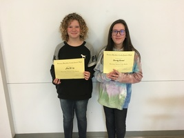 6th Grade December Students of the Month
