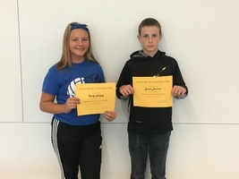 7th Grade September Students of the Month