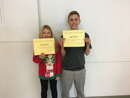 7th Grade December Students of the Month