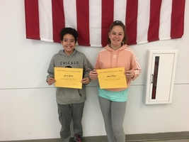 7th Grade October Students of the Month