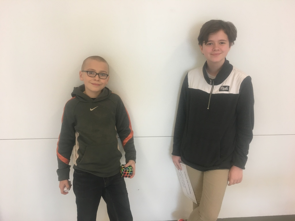 6th Grade Attendance Raffle Winners - November 22, 2019