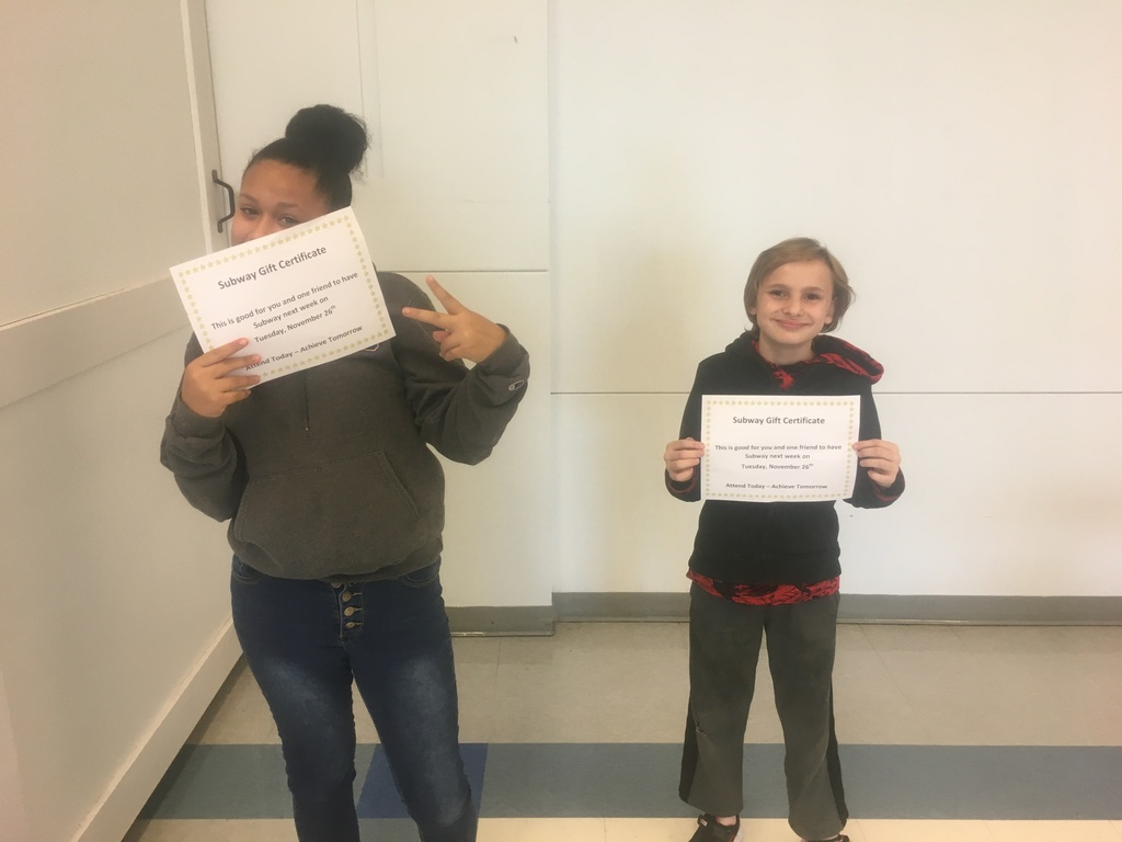 8th Grade Attendance Winners - November 22, 2019